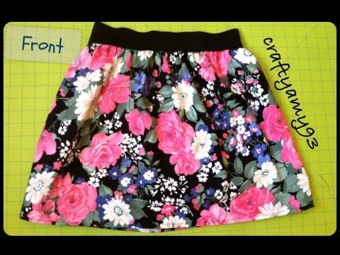 DIY Skirt with Elastic Tutorial | Easy and Simple