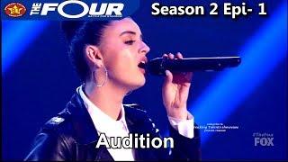 "Rebecca Black now 20 years old sings ""Bye Bye Bye"" Meghan FANGIRLING Full Audition The Four Season 2"