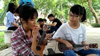 Đưa nhau đi trốn- ukulele cover by Trần Thảo,Hồng Anh Vũ