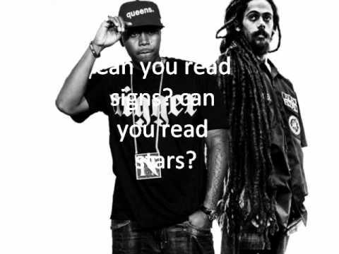 Damian Marley patience Ft. Nas lyrics on the wall