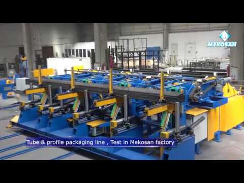 AUTOMATED PACKAGING LINE FOR TUBES AND PROFILES MEKOSAN