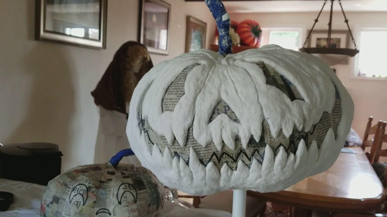 Paper clay jack o lantern sculpt youtube