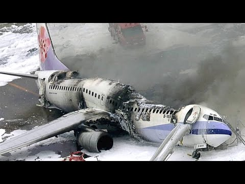 Raw Footage of the China Airlines Flight 120 Explosion