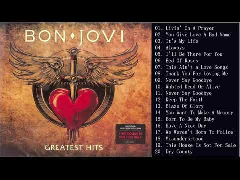 Bon Jovi Greatest Hits Full Album - Best Of Bon Jovi Playlist 2020