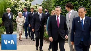 G-7 Leaders in Group Photo at Eden Project