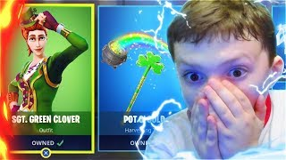 Surprising My LITTLE BROTHER With New LUCKY SKINS In Fortnite! (New Free Fortnite Skins Update)