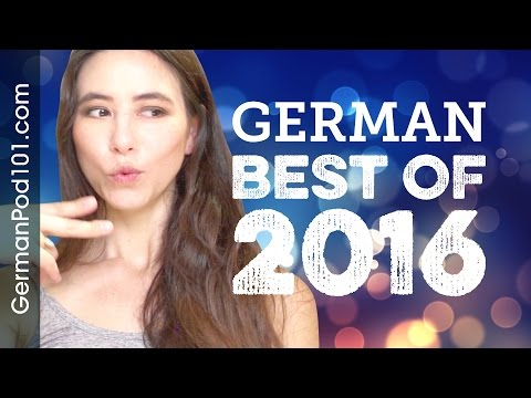 Learn German in 50 minutes - The Best of 2016!