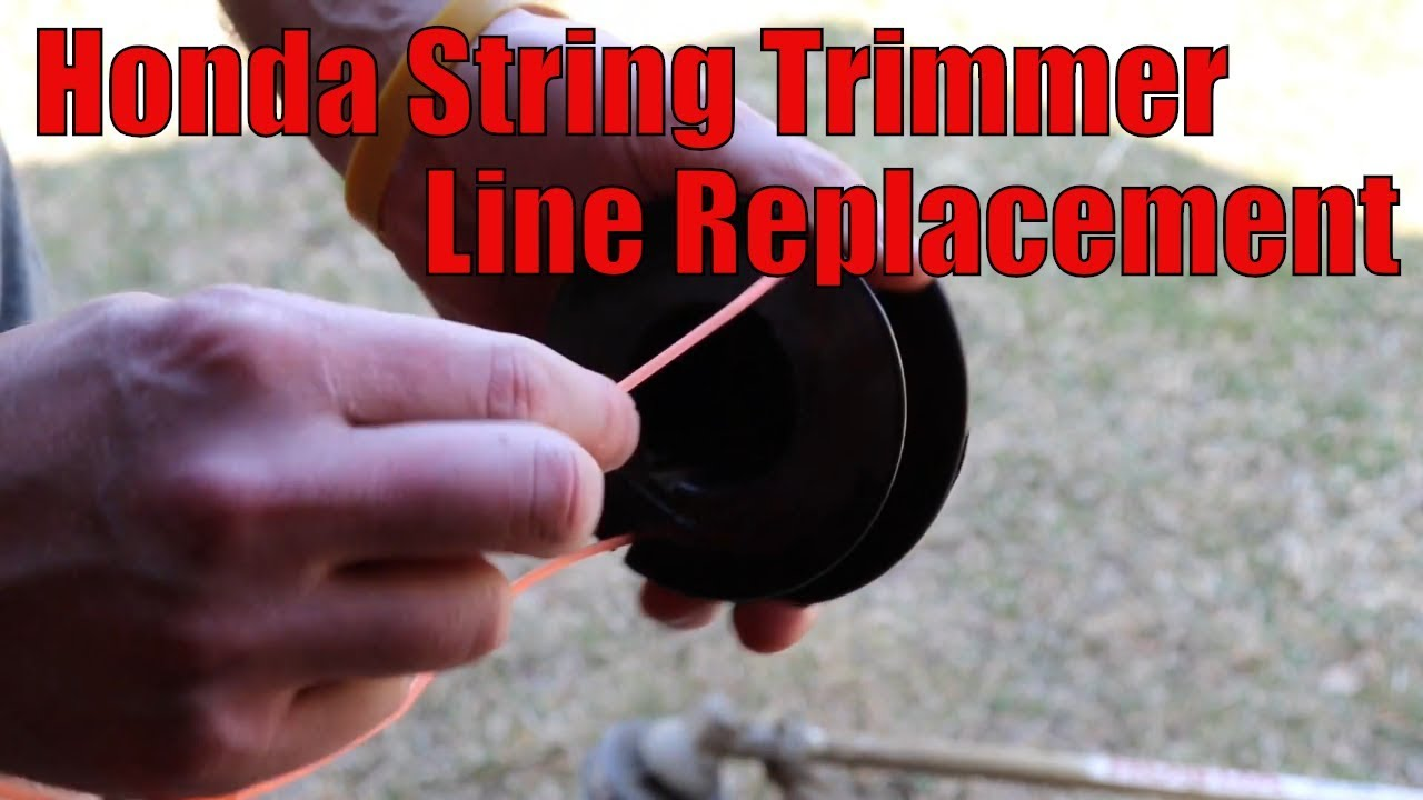 How to Replace String Trimmer Line Honda HHT35s, HHT25s