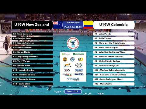 Game 203  (NZL vs RSA U24M) ENGLISH- 5th CMAS Underwater Hockey Age Group Worlds - Sheffield, UK