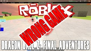 Roblox Dragon Ball - Final Adventures - JR cellulari e bombe spirituali Gioco sbagliato!