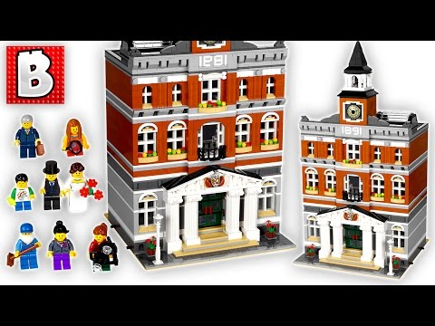 Lego Creator Town Hall Modular City Set 10224 | Unbox Build Time Lapse Review