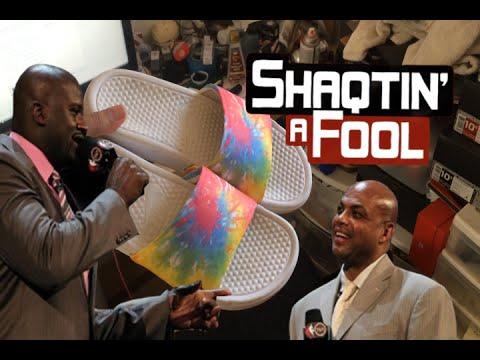Charles Barkley lying about liking my Tye Dye Nike slides