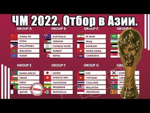 Чемпионат мира 2022. Отбор в Азии (АФК). 10 разгромов в 3-м туре. Расписание. Таблицы.