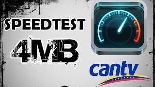 Aba Cantv Plan 4 Mb | Speedtest | Prueba de velocidad