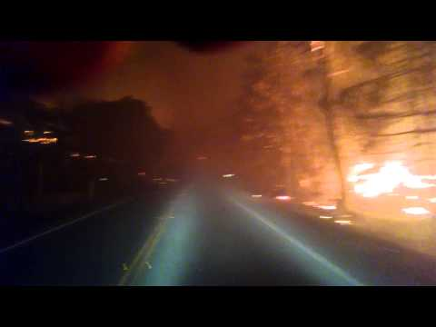Terrifying video shows what it would be like to drive through a wildfire