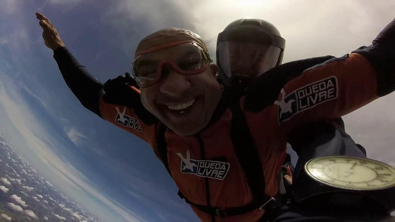Salto de Paraquedas do Ernoque na Queda Livre Paraquedismo 08 01 2017