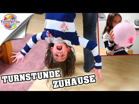 TURNSTUNDE Gymnastik  ZUHAUSE - LUFTBALLON Akrobatik - Family Fun