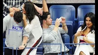 Priyanka Chopra Nick Joas can;t take their eyes off each other at US OPEN