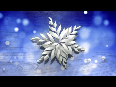 How to Make a Snowflakes with A4 Paper *DIY*