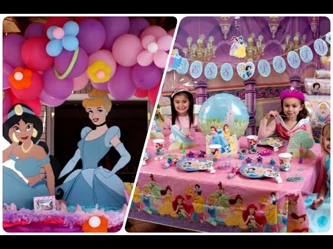 Fiesta infantil de princesas disney youtube - Fiestas infantiles princesas disney ...