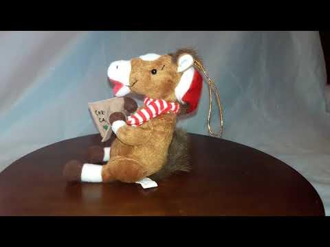 Horse singing Christmas Carols