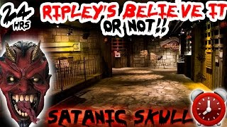 (SATANIC SKULL) 24 HOUR OVERNIGHT CHALLENGE AT RIPLEY'S BELIEVE IT OR NOT | OVERNIGHT AT RIPLEY'S ⏰ thumbnail