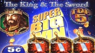 BIG BET..SUPER BIG WIN! The King and The Sword Slot Machine Bonus Free Spins Top 5!