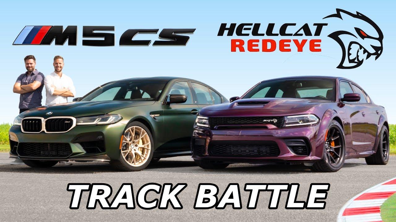 2022 BMW M5 CS vs Dodge Charger Hellcat Redeye // DRAG RACE, ROLL RACE & LAP TIMES