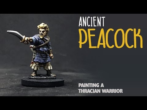 Ancient peacock: Painting a Thracian warrior