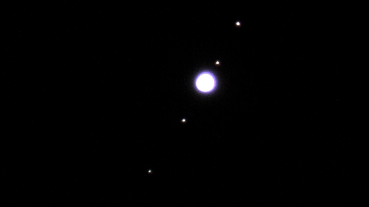 Jupiter with 4 Moons (18 March 2017) - YouTube