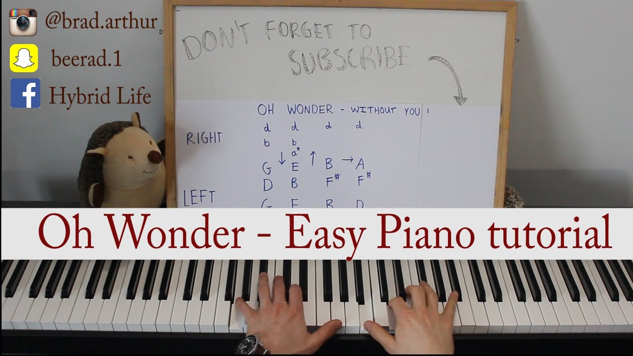 Oh wonder without you easy piano tutorial youtube hexwebz Image collections