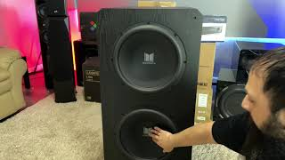 Monoprice Monolith M-215 THX Dual 15 inch Subwoofer |Unboxing, BASS Test & Overview