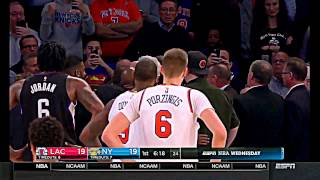 Charles Oakley fights knicks owner James Dolan @ clippers game Phil Jackson arrested full video