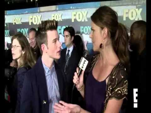 chris colfer funny moments