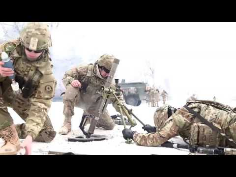 Soldiers Snowy Mortar Live Fire