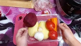 Как приготовить борщ с курицей в мультиварке Редмонд Рецепт борща Борщ в мультиварке Redmond