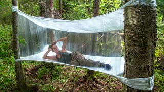 Amazing Bushcraft Tent made from Plastic Wrap!