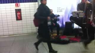 Jazz Duo busking - London Underground