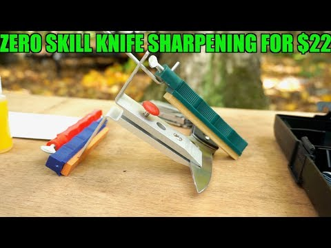 LANSKY CONTROLLED ANGLE KNIFE SHARPENING SYSTEM | Another great beginner sharpening system.