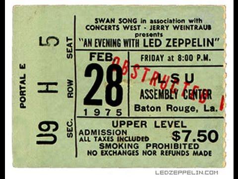 Led Zeppelin Live Bootleg Baton Rouge, La 2-28-75 Rampaging Cajun Disk 2