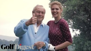 Sneak Peek: Kate Upton & Arnold Palmer-Cover Shoots-Golf Digest