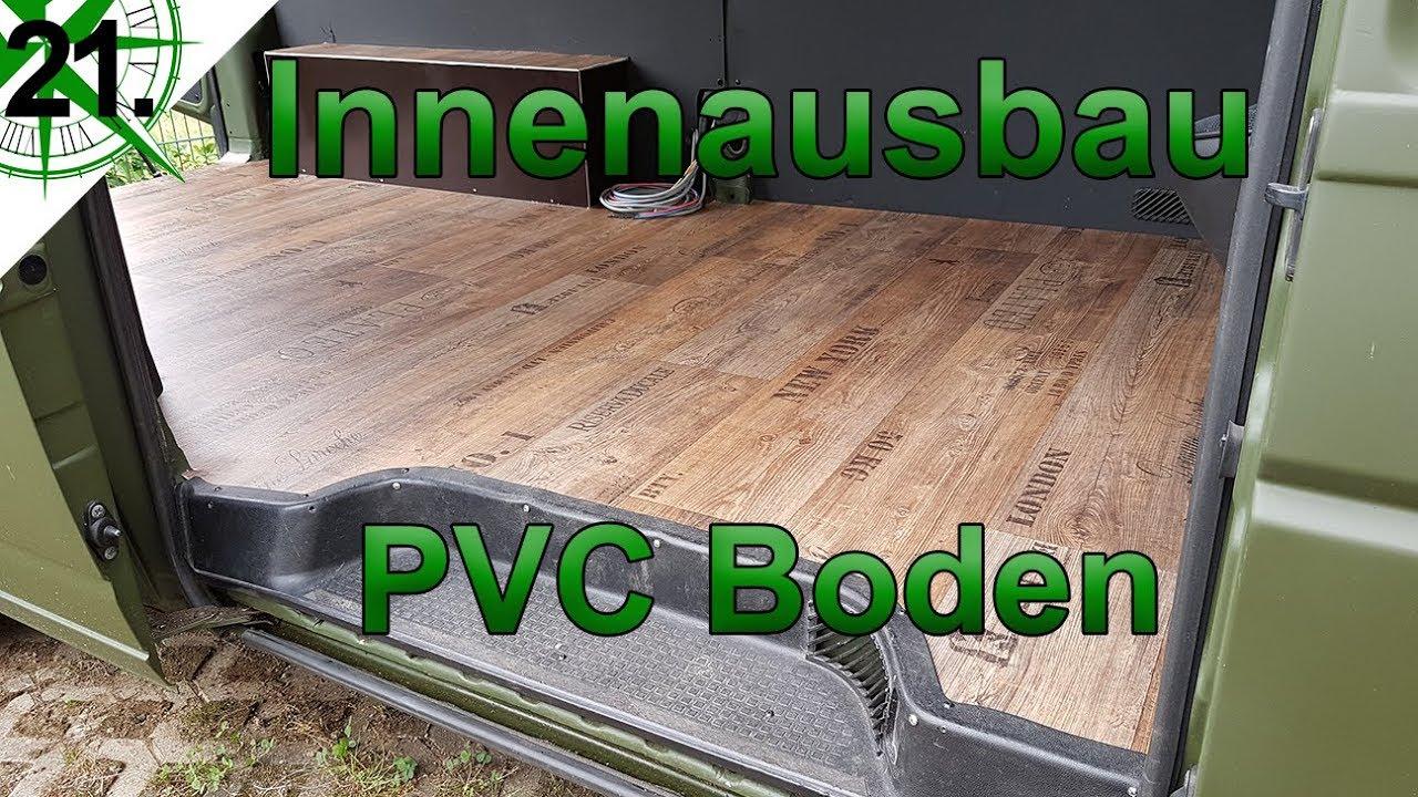 Innenausbau | Holz Optik Pvc Boden | Vom Vw T4 Syncro Transporter
