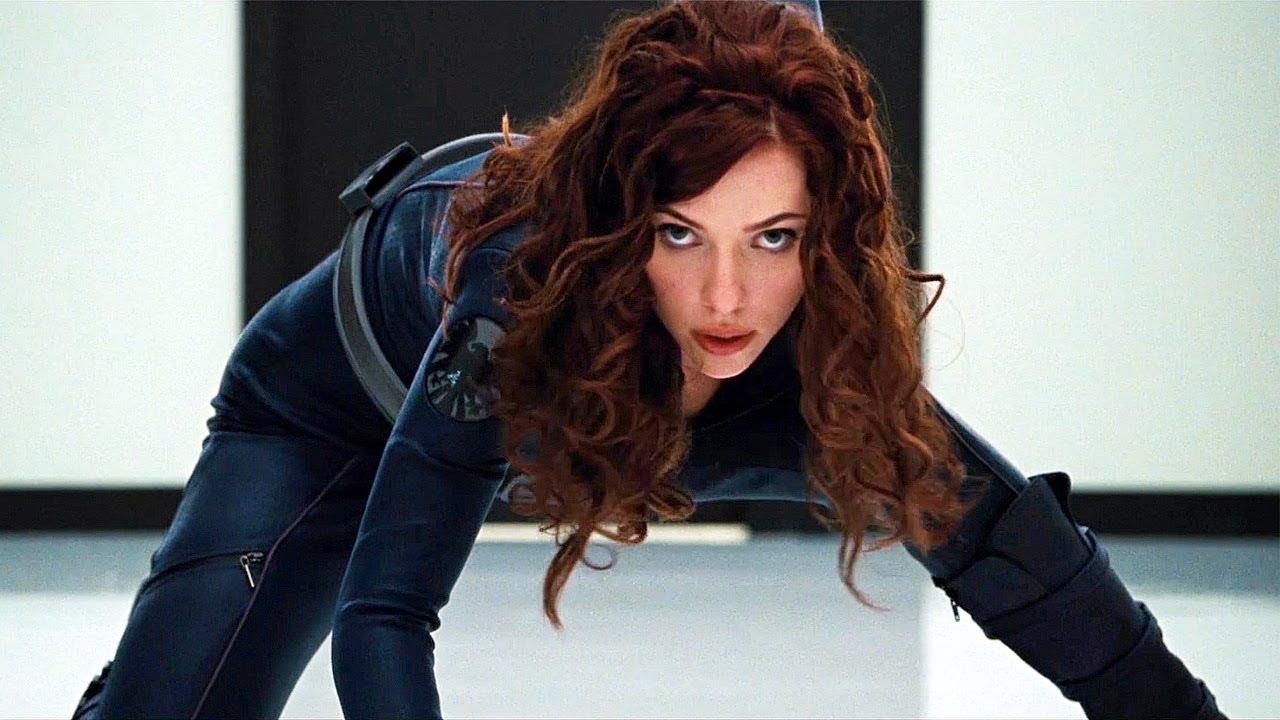 Black Widow Vs Hammer Security Fight Scene Iron Man 2 2010 Movie Clip Hd