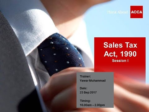 Sales Tax Act, 1990 - Session I