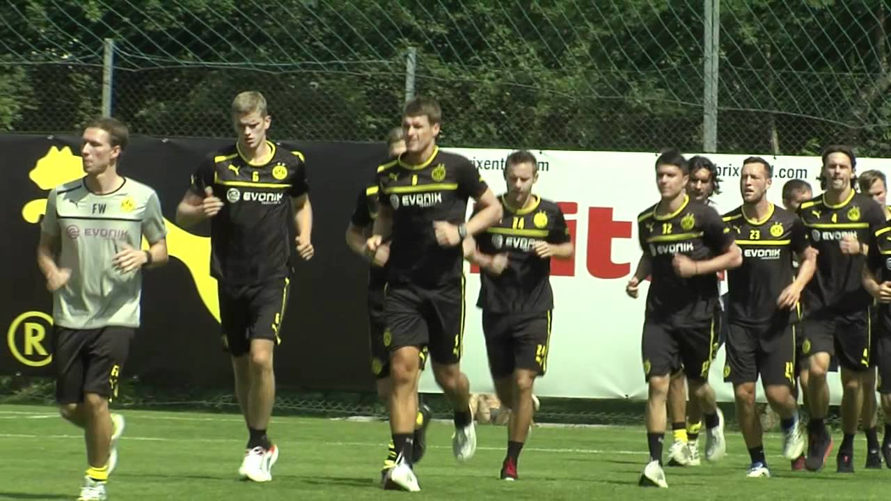 Schwitzen in den Bergen: BVB im Trainingslager am 4. Tag -  Borussia Dortmund 2012