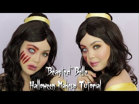 """Beasted"" Belle Halloween Makeup Tutorial | 2018 | AnnaMariaPDT thumbnail"