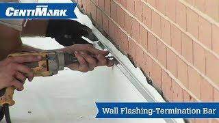 Wall To Roof Flashing Using Termination Bar Video Centimark Channel By Centimark Corporation