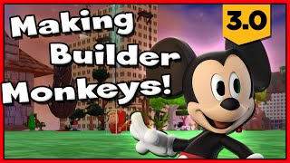 Disney Infinity 3 - Toy Box Adventures! Making Builder Monkey's W/ Mickey Mouse