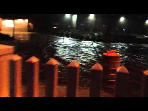 Sandy floods Far Rockaway