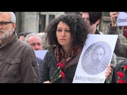 A Istanbul, commémoration du massacre des Arméniens de 1915